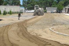 Grinding up Complete Parking Lot