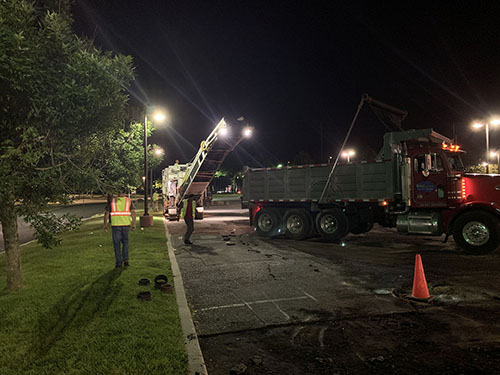 Pavement Milling of a parking lot